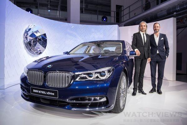 萬寶龍創意總監Zaim Kama(左)l與BMW造型設計總監Karim Habib共同打造萬寶龍BMW特別款百年紀念鋼筆。