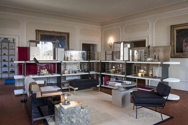 卡地亞Drive de Cartier腕錶系列風格展之圖書室,空間由法國知名設計師Tristan Auer所設計。