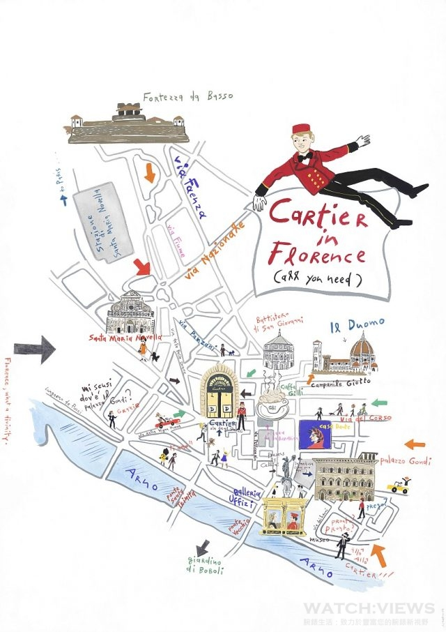 Palazzo Gondi廣場- Drive de Cartier活動場地樓層介紹,插圖來源:康斯坦丁‧卡卡尼亞斯(Konstantin Kakanias)