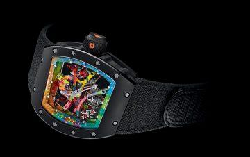 RICHARD MILLE和藝術家Cyril Kongo合作,推出新款RM 68-01陀飛輪Cyril Kongo腕錶