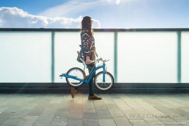 Swifty Scooters ONE系列備有可摺疊設計,便於攜帶外,也易於收納,讓您可因應時地而自由靈活運用。