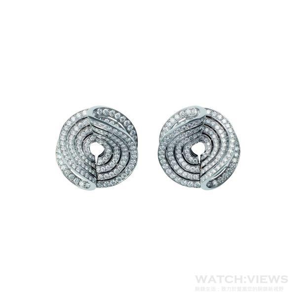 卡地亞頂級珠寶鑽石耳環,18K白金,450顆明亮式切割鑽石,共計6.23克拉。參考價格約NT$ 4,900,000