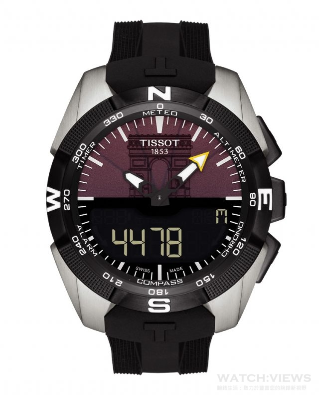 天梭觸控感應太陽能環法自行車賽特別版腕錶,建議售價 NT$32,400