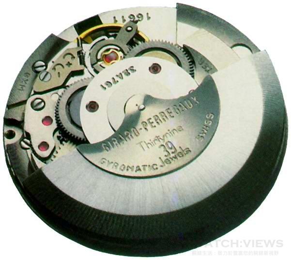 GP芝柏表於1966年推出每小時36,000轉的Cal.32A自動上鍊機芯