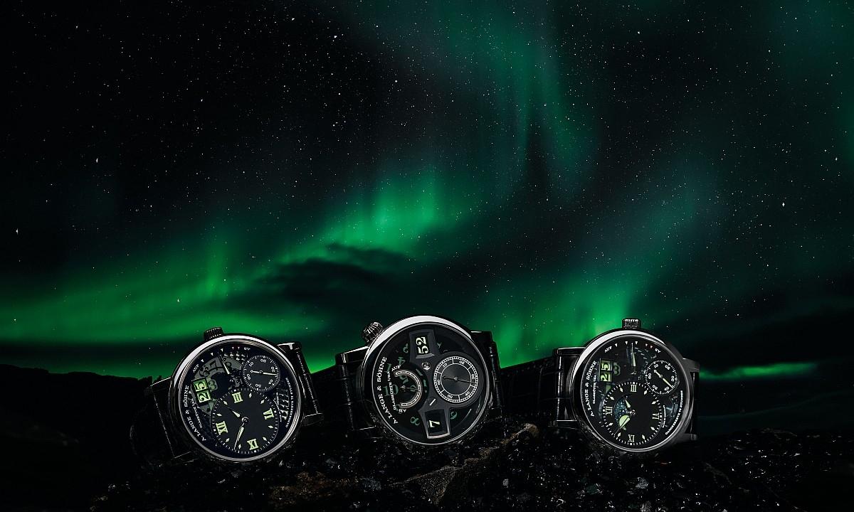 """與北極光相互呼應的璀璨光芒:朗格Grand Lange 1 """"Lumen""""、Zeitwerk """"Luminous""""及Grand Lange 1 Moon Phase """"Lumen"""""""