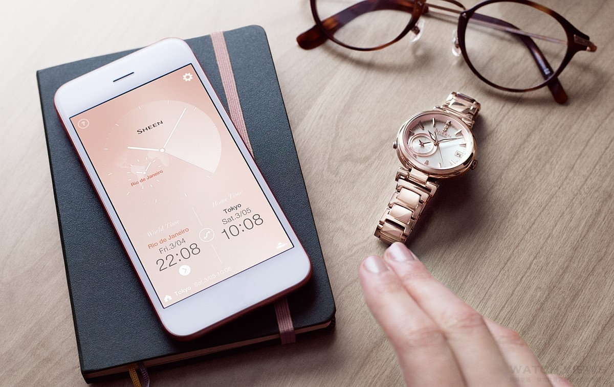 CASIO SHEEN TIME RING系列全新藍牙錶款雙錶盤世界時間設計,輕鬆掌握兩地時間
