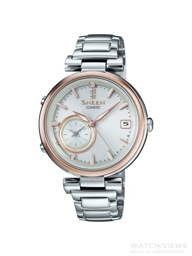 CASIO SHEEN TIME RING型號SHB-100SG-7A,建議售價NT$11,100。