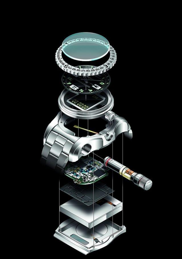 Emergency II〈緊急求救腕錶二代〉由百年靈公司與大型科技研發機構合作研發而成,因其在微電子和微觀技術領域擁有多項革新而備受矚目,包括專為這款腕錶設計研發的三項配置:可充電電池、微型雙頻發射器和全新內置天線系統。