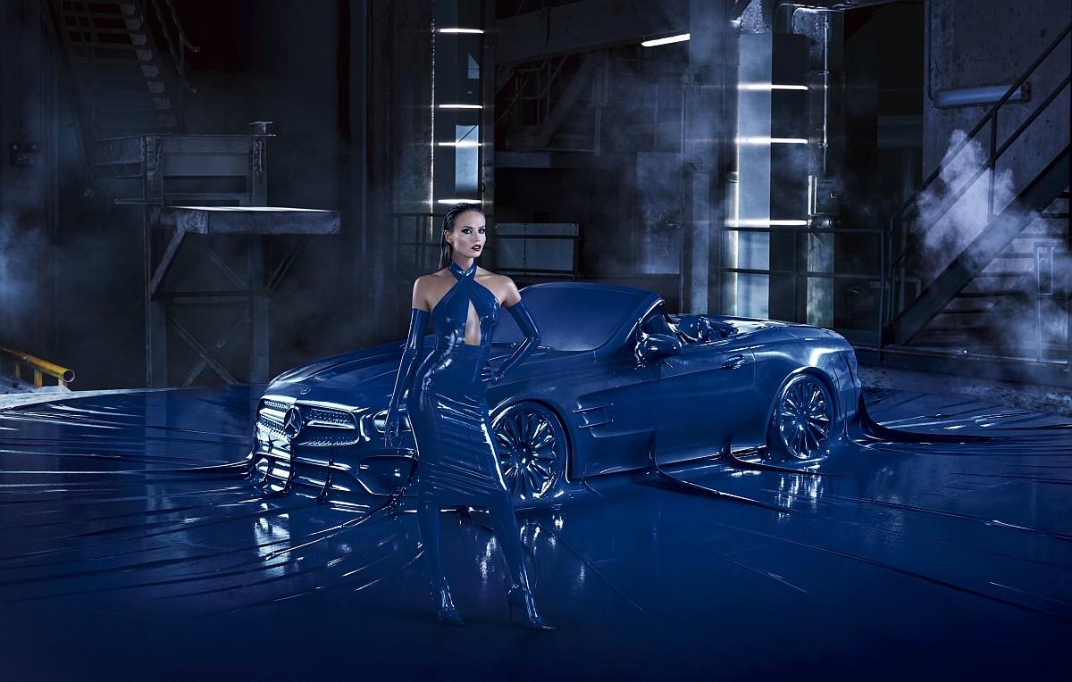 時尚新指標:The new SL曲線畢露攜手超模性感過招,敞篷跑車傳奇即將登台