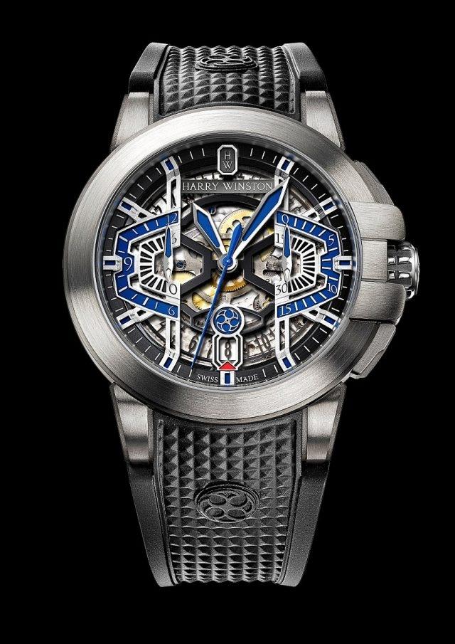海瑞溫斯頓 Project Z9腕錶,Zalium鋯合金錶殼,直徑44.2毫米,HW3304計時機芯,限量300只。