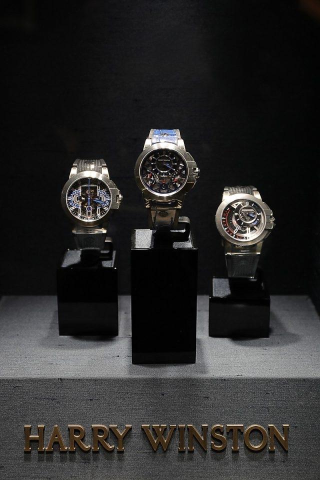 海瑞溫斯頓Harry Winston在上海半島酒店品牌專門店舉辦的 「探索海瑞溫斯頓Zalium™腕錶傑作展暨貴賓酒會」,現場展出Project Z系列腕錶。