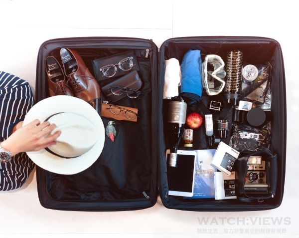 丁春誠的行李箱,充滿型男風格。