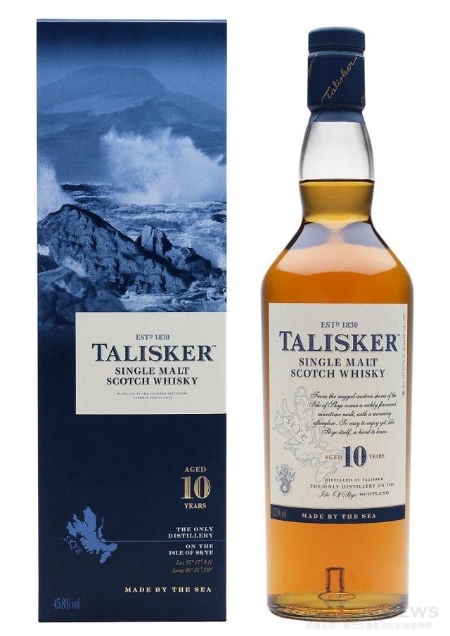 泰斯卡〈Talisker〉10年單一麥芽威士忌泰斯卡目前仍然是斯凱島唯一的麥芽威士忌酒廠,獨特的蒸餾器排列賦予泰斯卡獨特的風格。這是以45.8%裝瓶的麥芽威士忌,泰斯卡10年以五種波本桶所陳釀的原酒精心調和而成,它那獨特帶煙燻的甜味以及相當有力量的特性,讓它在盲飲測試中很容易被辨識出來。建議售價 NTD1,190。