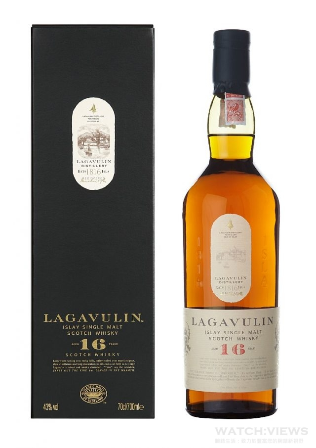樂加維林〈Lagavulin〉16年單一麥芽威士忌不僅是艾雷島,放眼蘇格蘭,都很少有其他酒廠最基本的年份就從16年起跳,樂加維林認為年份過低,無法表現出樂加維林長時間慢速蒸餾的新酒獨特的優點。樂加維林是一款壯麗、強勁、層次豐富的酒款,具有鮮明的泥煤、煙燻、海鹽以及美味水果乾甜味的艾雷島威士忌,每喝一次都會讓你有新的發現。建議售價 NTD1,990。