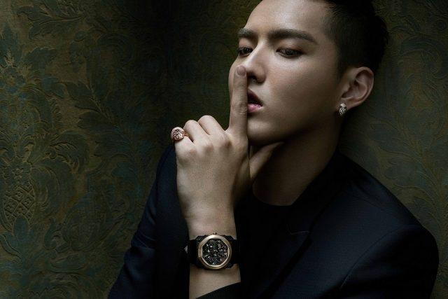 01_格麗腕錶系列廣告,配戴BVLGARI Octo Finissimo Skeleton透視機芯腕錶。