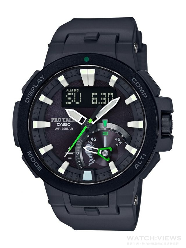 CASIO PRO TREK PRW-7000-1A ,建議售價$21,000。