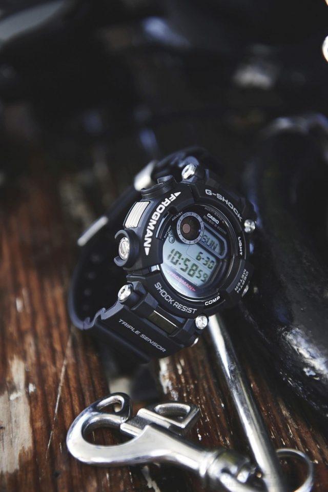 G-SHOCK FROGMAN,型號GWF-D1000-1,建議售價NT$34,000。