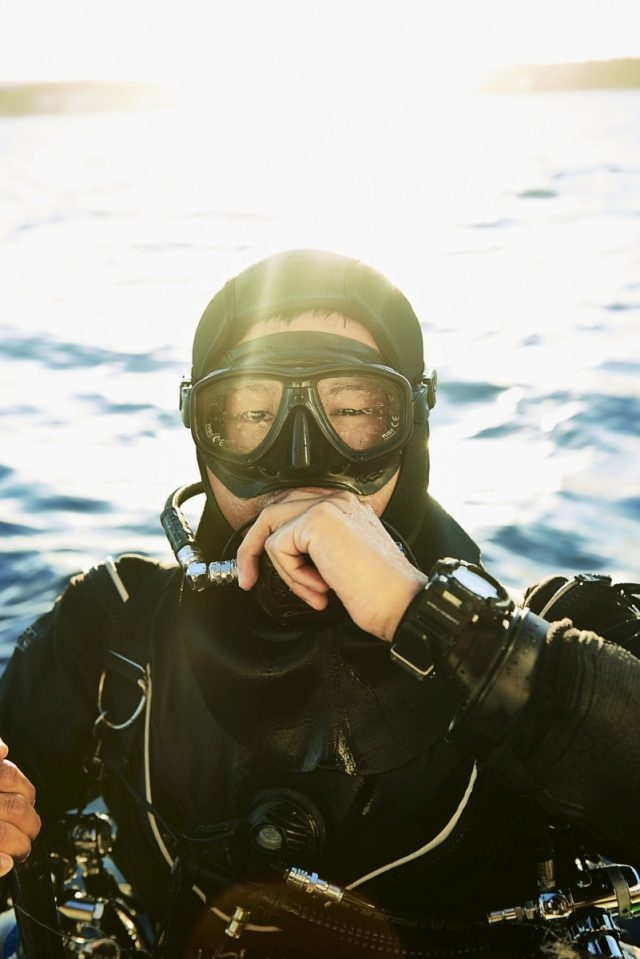 台灣知名潛水教練 陳琦恩參與G-SHOCK FROGMAN形象影片拍攝。