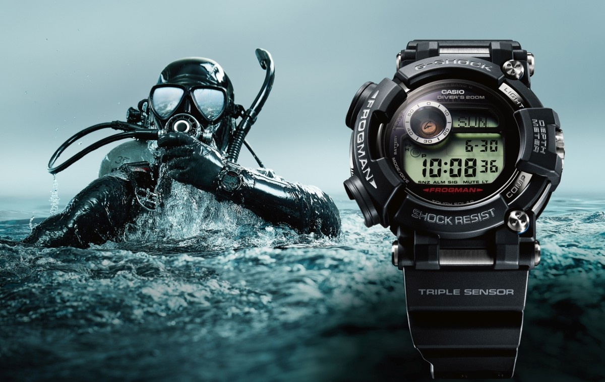 CASIO G-SHOCK FROGMAN GWF-D1000潛水專用蛙王以全新三大感應器,精準掌握深度、方位、溫度資訊