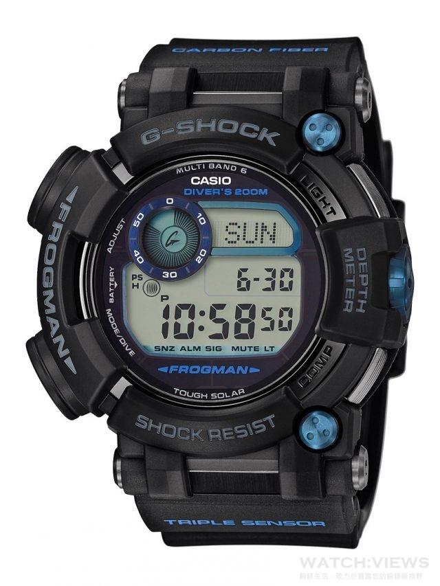 G-SHOCK FROGMAN 潛水專用蛙王GWF-D1000B-1,建議售價NT$35,000。