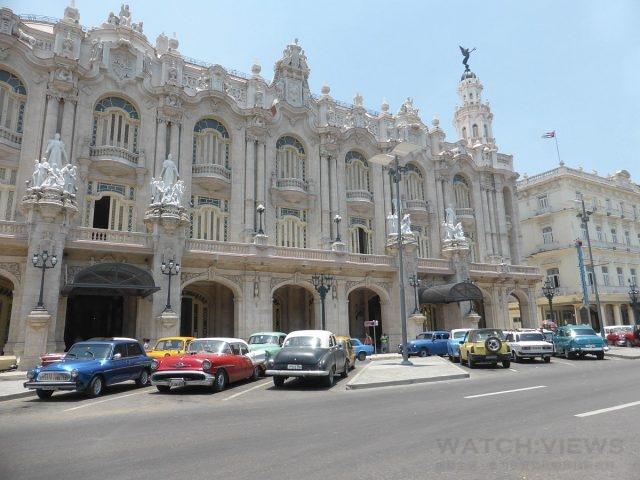 古巴隨處可見經典老車