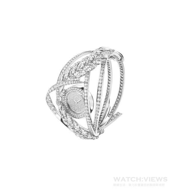 Chaumet麥穗鑽石腕錶。