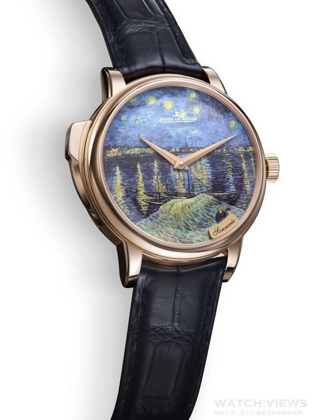 《隆河上的星空》三問錶款獨有trebuchet天秤錘、水晶音簧、及符合人體工學的簡便按鈕,創造非凡豐富音色。
