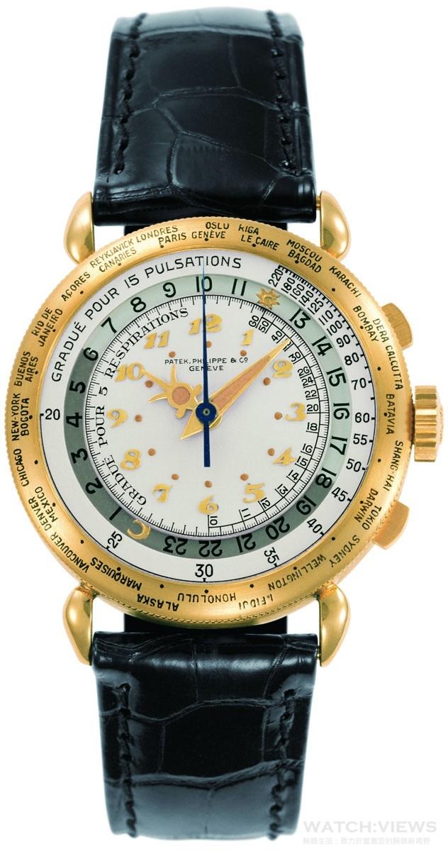 百達翡麗古董世界時間計時碼錶編號862 442,1940年製,獨一無二作品,因為備有脈搏計與呼吸計刻度,據信為一名醫生所有,現藏於百達翡麗博物館(藏品編號P996)。