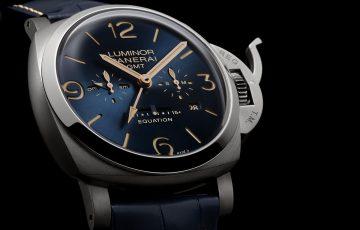 沛納海匠心詮釋時間的等式:Panerai Luminor 1950 Equation of Time 8 Days GMT 8 日動力儲存兩地時間鈦金屬腕錶