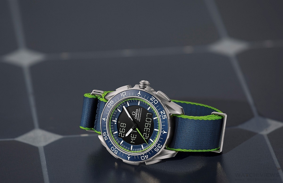 Solar Impulse成功完成環遊世界之旅,. 歐米茄推出超霸 Skywalker X-33「太陽能飛行計畫」限量版腕錶