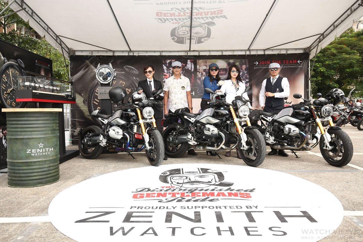 真力時ZENITH首度贊助重機騎士年度盛事 DGR2016紳士路騎號召數百輛復古重機奔馳台北