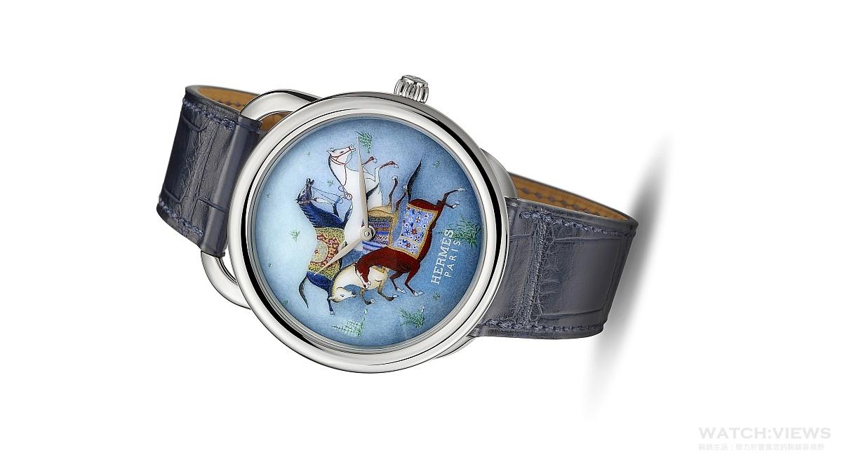 愛馬仕 Hermès Arceau Cheval d'Orient大明火琺瑯腕錶