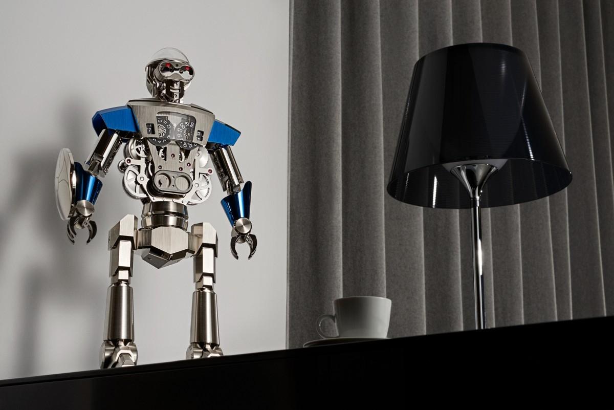 人類與機械的一體兩面:MB&F與L'Epée 1839合作推出全新Balthazar機器人桌鐘