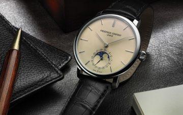 康斯登推出全新Slimline Moonphase Manufacture自製機芯超薄月相腕錶