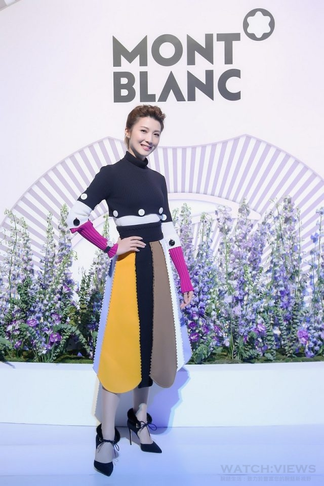 新加坡女星歐萱出席萬寶龍Boheme寶曦系列女仕腕錶全球發表會,以精緻風格向萬寶龍「寶曦女性」致敬。