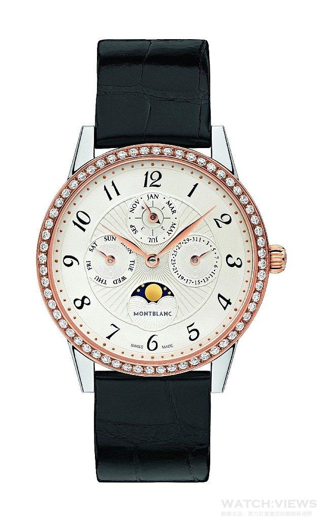 萬寶龍Bohème寶曦系列萬年曆珠寶腕錶,NT$548,400。
