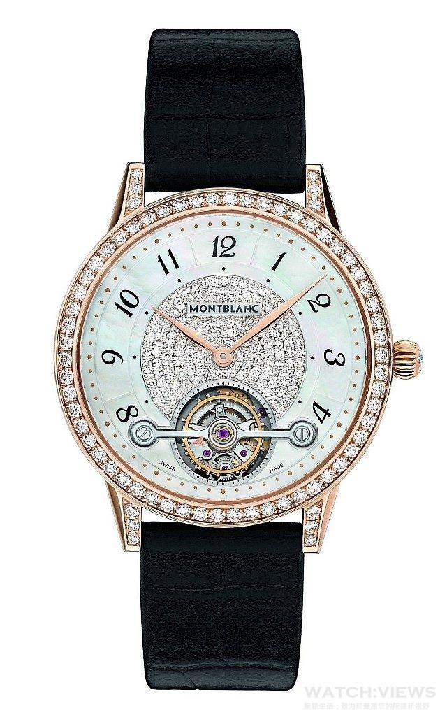 萬寶龍Bohème寶曦系列外置陀飛輪超薄珠寶腕錶,NT$1,500,400。
