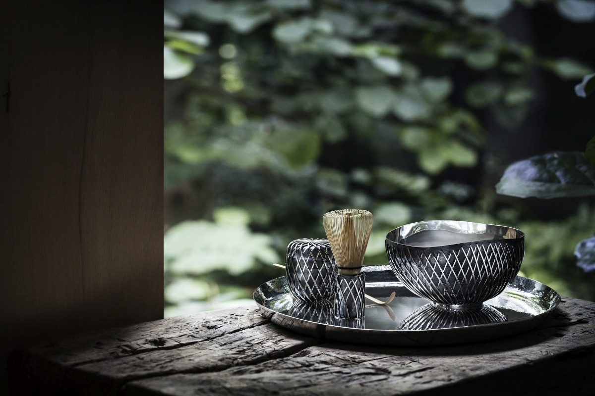 喬治傑生隆重獻上與國際知名建築大師隈研吾(Kengo Kuma)最新力作-KUSA 純銀茶具組