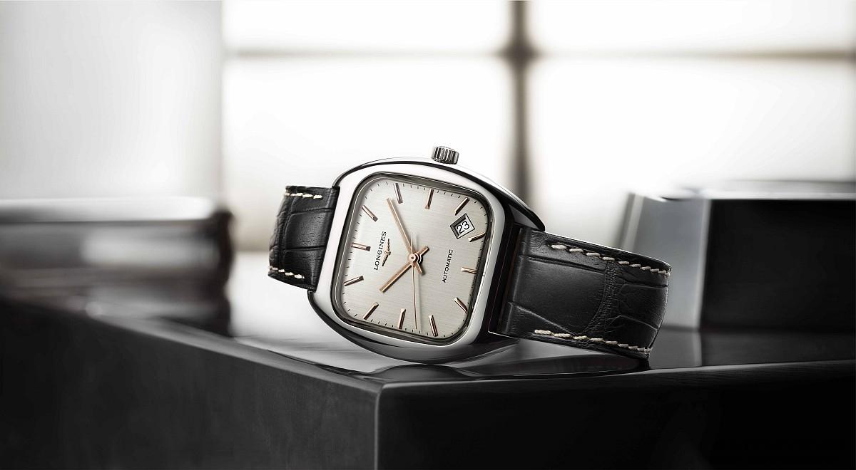 經典枕型搭配玫瑰金設計元素:Longines 1969復刻腕錶以復古表情演繹摩登風尚
