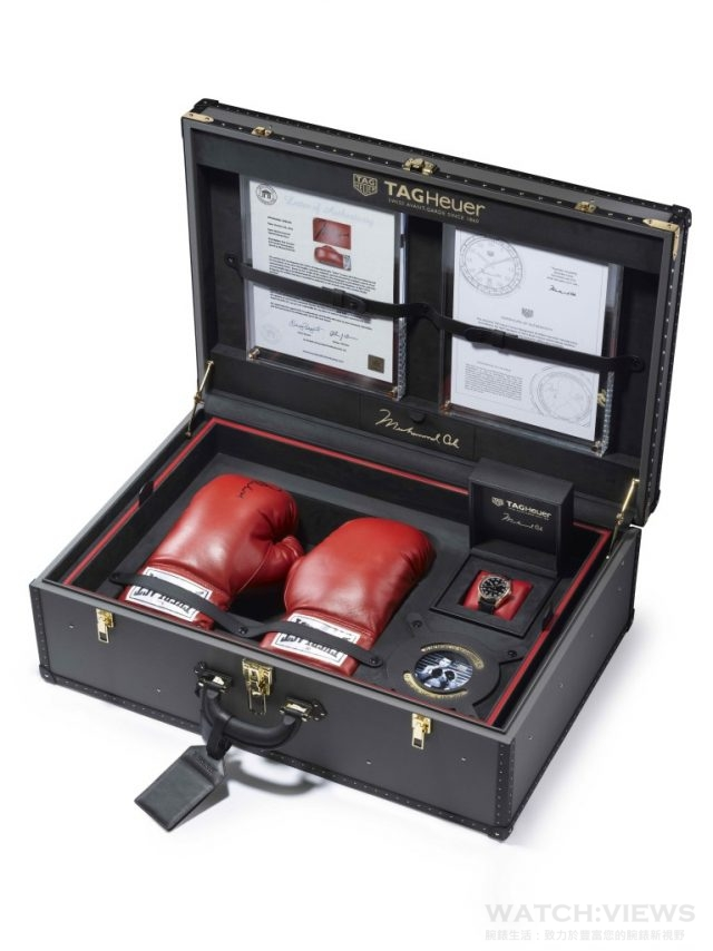 TAG Heuer CARRERA Calibre 5「RING MASTER」致敬拳王阿里,全球限量一只,獨一無二純金套裝組。