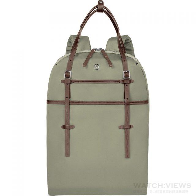 Victoria 系列 Hamony 多功能後背包 顔色:月桂綠色,售價NT$ 8,800。