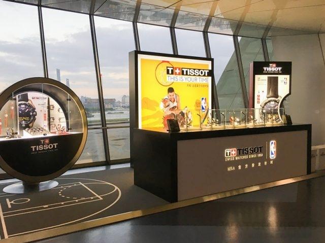 NBA國際系列賽上海站現場天梭表展示台