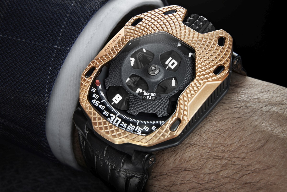 為金痴狂:Urwerk Raging Gold UR-105