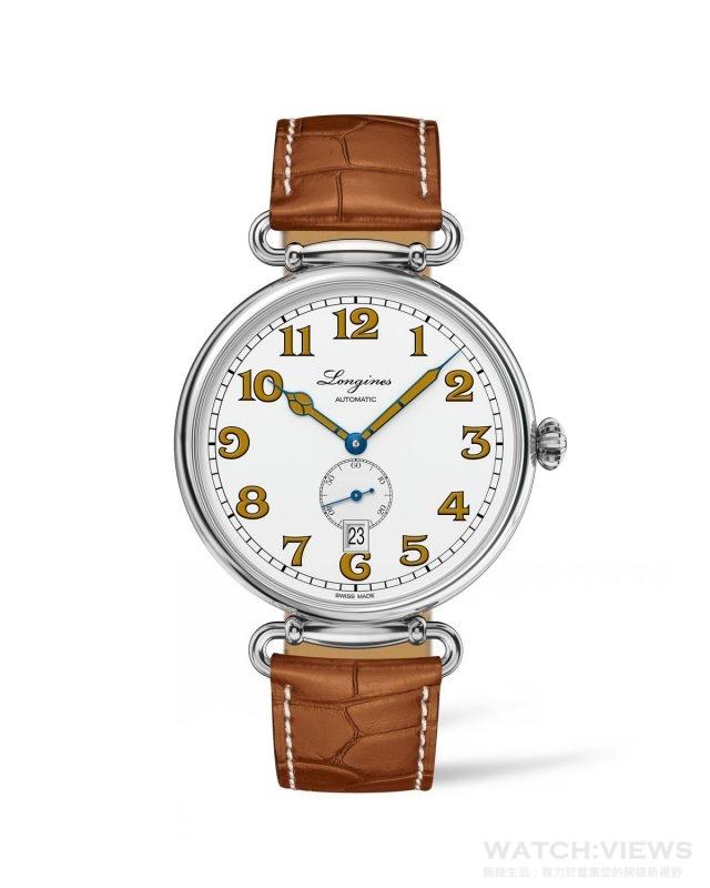 浪琴表復刻系列1918腕錶 (L2.309.4.23.2),建議售價NTD58,800