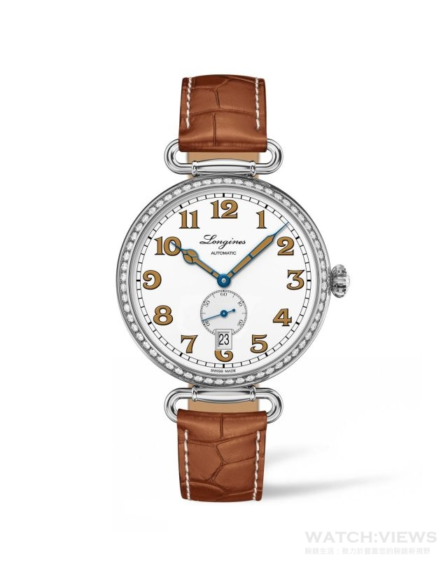 浪琴表復刻系列1918 鑲鑽腕錶 (L2.309.0.23.2),建議售價NTD179,800