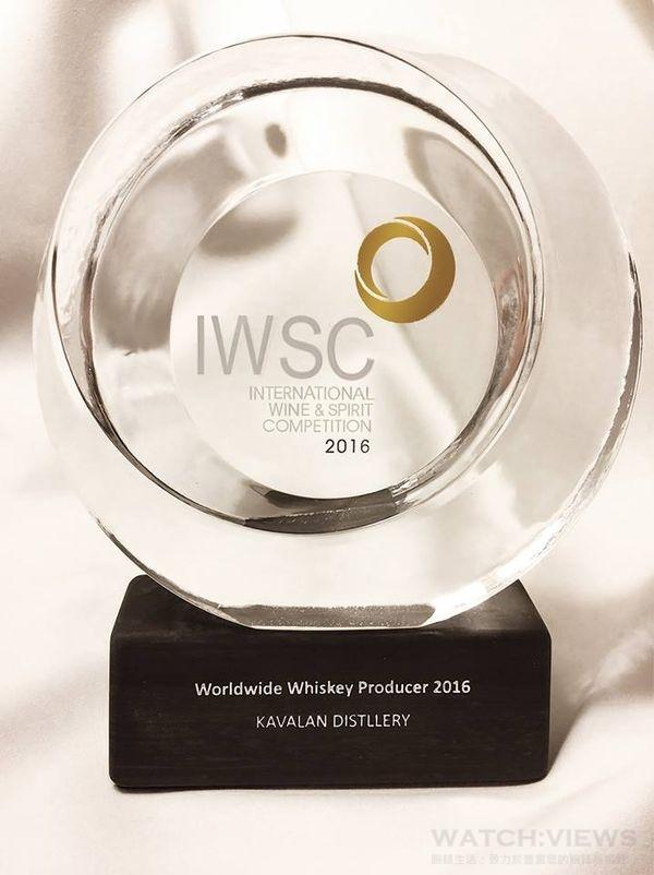 2016 IWSC世界威士忌年度酒廠冠軍獎盃。
