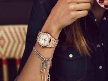 【2017 PRE-SIHH報導】經典女裝腕錶設計歡慶40週年,愛彼推出皇家橡樹霜金Frosted Gold腕錶