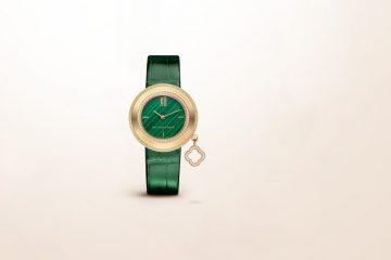 散發孔雀石繽紛色彩:Van Cleef & Arpels Charms系列Malachite腕錶