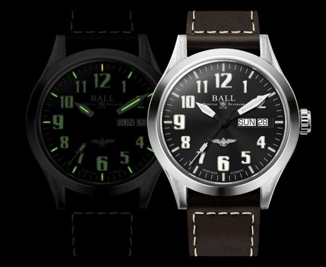 BALL Watch Engineer III工程師系列青銅星(Bronze Star)與銀鋼星(Silver Star)飛行錶款均有14支自體發光微型氣燈配置於錶面、時及分針,方便夜間讀時,錶面數字刻度及秒針均採用超級夜光塗漆。