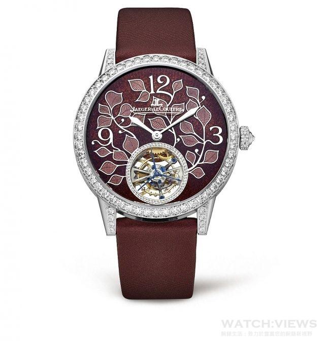 積家Rendez-Vous Ivy Tourbillon約會系列常春藤陀飛輪腕錶,Q34134E3,建議售價NT$3,800,000。